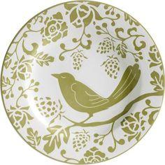 Green Bird Plate