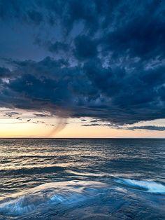 Rain over Lake Superior - Michigan