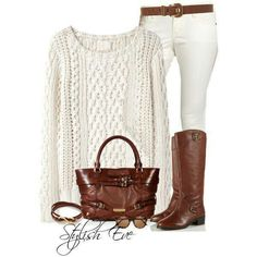 Winter white outfit.