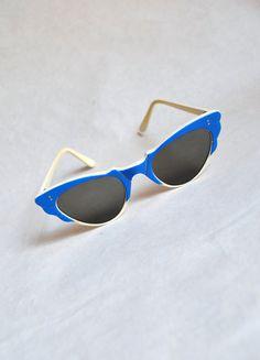 1950s Blue / white butterfly cat eye sunglasses by Veramode, £40.00