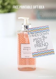 """""""You're the best"""" free printable soap gift idea. Cute, easy and inexpensive to make!"""
