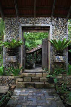Into the Gardens, Malaysia * dream, tropic garden, jungl, malaysia, tropical gardens, place, gate