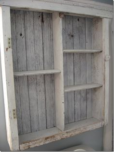 bathroom cabinet out of pallets of course=-)
