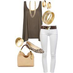 White Jean Outfit (yjmunson)