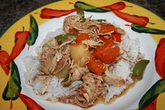 Slow Cooker Chicken Stew with Pepper and Pineapple