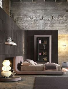 Spaces . . . Home House Interior Decorating Design Dwell Furniture Decor Fashion Antique Vintage Modern Contemporary Art Loft Real Estate NYC London Paris Architecture Furniture Inspiration New York YYC YYCRE Calgary Eames StreetArt Building Branding Identity Style Hipster Fashion urban style bedroom, bedroom idea, bedroom decorations, brick, bedtim, house interiors, autumn bedroom, warm bedroom, modern bedrooms
