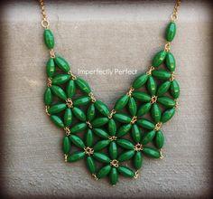 Emerald Green 3400 Handmade Statement by daniellecarroll59 on Etsy, $29.00