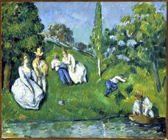 Paul Cezanne artists, ponds, oil paintings, paul cezanne, paul cézann, coupl relax, october, portraits, homes