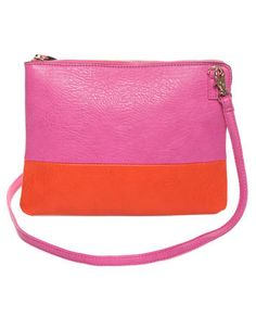 Color Block Pink Clutch