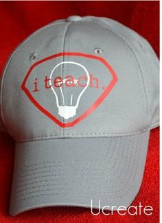 Becky from Ucreate shared this DIY Hat idea for a male teacher.  Great Teacher Appreciation gift.