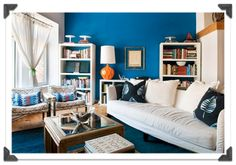 bright blue walls