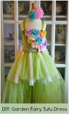 how to: garden fairy tutu dress