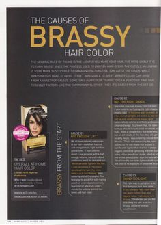 Causes of Brassy Hair Color
