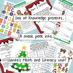 ~~FREE~~Santa's Wacky Reindeer Preview!! Grades 1-2. Math and Literacy activities including: Christmas Tree Number Jumble. (Addition, subtraction and number sort.) Wacky Letters cut n paste. (Letter recognition) Christmas Vocabulary Mega Match. (Vocabulary Match) English Punctuation, prepositions and Verb Recognition worksheets. ELL. Perhaps?
