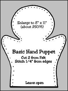 Puppet Workshop--Hand Puppet Body Pattern