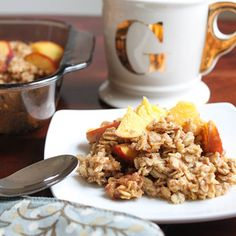 Make Once, Eat-All-Week Baked Oatmeal Recipes | Vegan Peach Baked Oatmeal