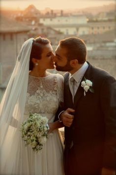 Beautiful wedding in Rome, Italy. Elie Saab Bridal <3