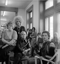 Andy Warhol and members of The Factory photographed by Cecil Beaton in 1969.