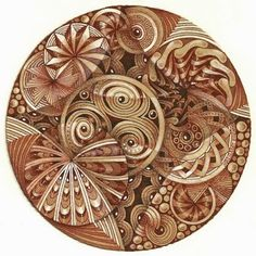 By Margaret Bremner, CZT  ... looks a bit like copper watch gears