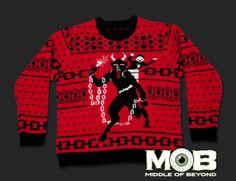 Krampus the Christmas Devil Pullover Sweater