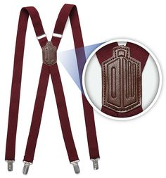 Doctor Who 11th Doctor's Red Suspenders $34.99