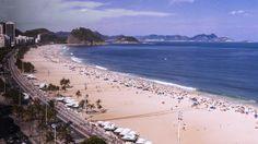 A panoramic view of Praia dos Pepinos, located in Sao Conrado.