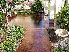 concrete patio design ideas | Patio Concrete Staining is the best way to give a natural and elegant ...