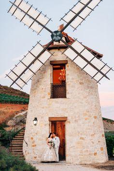 windmill portrait, photo by Desiree Shuey Photography http://ruffledblog.com/california-elopement-inspired-by-provence #weddingportrait