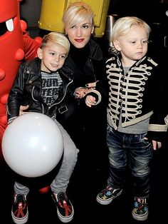 Kingston, Gwen and Zuma Rossdale