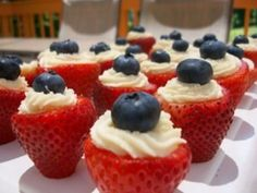 4th of July Sweet Treat - Strawberries, Icing and Blueberries  #fourth #of #july #fourthofjuly #party #idea #ideas #funideas #coolideas #food #foodie #yum #independence #day #family #fun #cookout #cookouts #grill #dessert #desserts #blueberries #strawberries #icing  www.gmichaelsalon.com