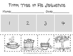 Fall Sequencing Activity. Can also be used as a writing activity. fall therapi, kindergarten sequence, fall writing ideas for prek, preschool sequenc, class tpt, school teach, middl school, pre-school activities, september school activities