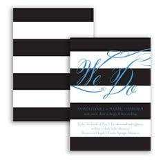 Wedding Bands - Wedding Invitation, Contrasting Stripes, Nautical at Invitations By David's Bridal