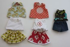 doll clothes -- tutorial and pattern as well as links to other doll-related sewing projects