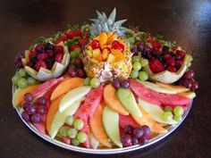 Idea for a Fruit Tray -Beautiful