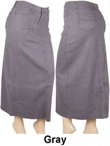 Long Straight Denim Skirt - $30.00 - Sizes XS - 3X