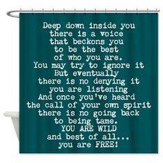 You Are Wild And Free Shower Curtain> EMPOWER SHOWER > Spiritmedicine111