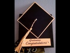 How To Make A Tassel & Graduation Cap Card - YouTube