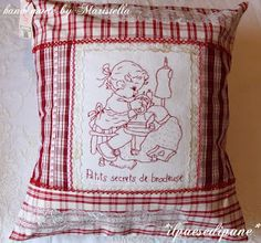 sew, craft, kissen, maristellamaison, redwork, bordado, stitch, pillows, embroideri