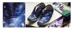 Le Awesome: DIY Galaxy shoes