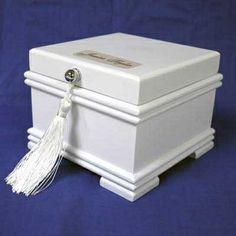 White Jewellery Box with Tassel #thingsengraved #thingsengravedgifts #gift