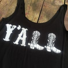 Black Southern Y'all Tank Top,
