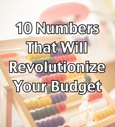 This makes things so much easier when doing a budget!