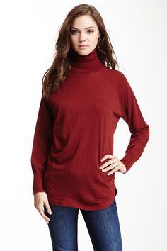 Autumn Cashmere | Autumn Cashmere Raglan Cashmere Turtleneck Sweater