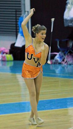 That's the face of confidence! baton twirling