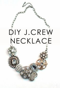 DIY J. Crew crystal flower lattice necklace. Original was $228. This one was 47 cents.