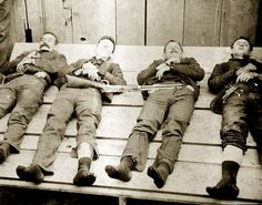 THE DALTON BROTHERS GANG BANK TRAIN ROBBERS MURDERERS.  THE DALTON GANG LAYED OUT FOR VIEWING.  EMMETT DALTON RECEIVED 23 GUNSHOT WOUNDS AND SURVIVED. HE SERVED 14 YEARS AND WENT ON TO BECOME A REAL ESTATE AGENT, AUTHOR, AND ACTOR AND DIED IN 1937 AT AGE 66.