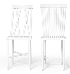 design stockholm house FAMILY CHAIR 1+2 WHITE - SOLD as a set of 2 $650 together