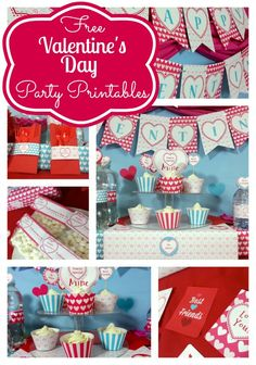 Free Valentine's Day party printables including water bottle labels and more ...