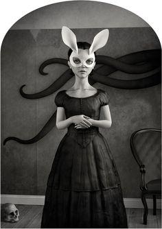 art illustrations, vans, van ryswyk, rabbits, white