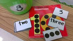 Matching number, number word, and dots! 10 Black Dots.  Would love this for dots and numbers for younger/lower kiddos